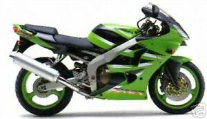 KAWASAKI TOUCH UP PAINT KIT ZX6R 2001 GREEN AND BLACK .