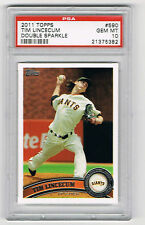 2011 TOPPS #590 TIM LINCECUM **DOUBLE SPARKLE** PSA GRADED 10 GEM MINT! POP 1/1