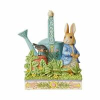 Jim Shore Heartwood Creek Beatrix Potter Peter Rabbit with Watering Can Figurine