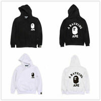 A Bathing Ape Men Hooded Jacket BAPE Pullover Long Sleeve Sweatshirt Hoodie TEE.