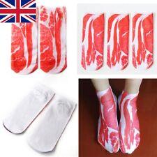 3D Creative Soft Bacon Printed Pork Meat Socks Men Women Low Cut Socks Casual