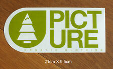 Picture Organic Clothing snowboard Ski Aufkleber Large Sticker Adesivo (S227)