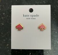 Kate Spade New York Heart Gold Plated Coral Everyday Spade Earrings