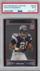 2007 Bowman Chrome Vikings Adrian Peterson Rookie Card #BC65 PSA 9 MINT (2801)