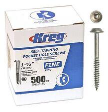 Kreg SML-F150-500 1-1/2-inch Fine Washer-Head Pocket Hole Screws, 500-Pack