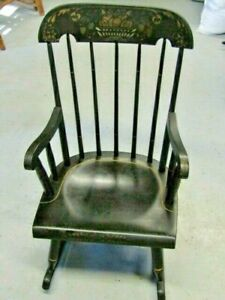 Nichols And Stone Child's Windsor Rocking Chair Vintage
