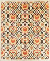 Kazak Area Rug Hand-Knotted Oriental Geometric Wool 8 x 10 New Carpet