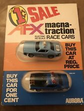 Afx Slot Cars 1 Cent Sale Taxi Cab And Police Car Carded