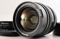 【NEAR MINT】Mamiya G 50mm F/4 L Wide Angle Lens New Mamiya 6 + METAL HOOD Caps JP