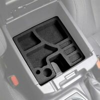 Fits Toyota Tacoma 2016-2020 Center Console Black Organizer Inserts 2 Piece Set