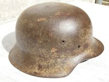 RARE casque allemand M42 camoufflé Normandie - provenance Normandie 44 - WWII
