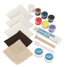 17pc Leather & Vinyl Repair Kit Fix Rips Burns Holes Car Boat Seat Color Couch