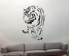 XL Wandtattoo Wand Tattoo Wandsticker Aufleber Wandaufkleber Tiger Deko Set Neu