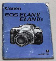 CANON EOS ELAN II IIE Original Camera Guide Manual Instruction Photography Book