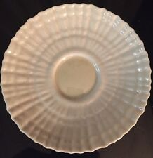Belleek Saucer Plate Tridacna (3rd Black Mark) c:1926-46 yellow luster in center