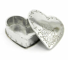 Scatolina bomboniera portaconfetti matrimonio PELTRO finitura argento italy