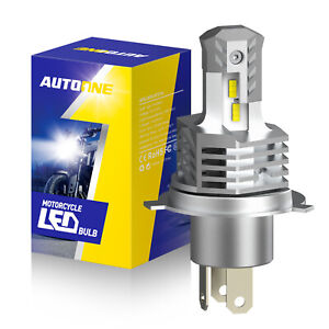 Motorcycle H4 9003 LED Headlight 6000LM 26W High Low Beam Pure White 6000K Bulb
