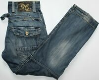 G-Star Elwood Heritage Loose Jeans - 32 W / 32 L - Straight - Blue Faded - Mens
