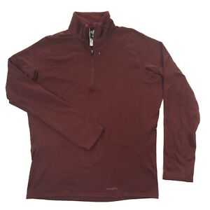 Patagonia Capilene Performance Baselayer Mens Red 1/2 Zip Thermal Shirt