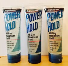 (3) Brylcreem Power Hold All Day Maximum Hold Gel 4 oz NEW