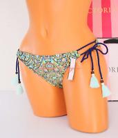 S Small VS VICTORIA'S SECRET Strappy Side-Tie Low-Rise Bikini Bottom Mosaic NWT