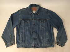 VTG LEVI'S STRAUSS Standard Trucker Blue Jean Jacket #70507 Mens XL *FAST SHIP*