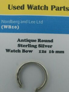 Antique Sterling Silver Pocket Watch Bow Size 16 mm For a 12s  (WB 10)