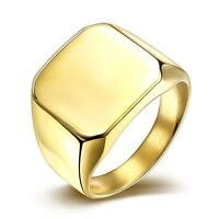 Men's Ring 316L titanium steel 18k Yellow Gold Filled New Fashion Jewelry Gift