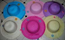 GIRL STRAW HATS~12 HATS~ SPRING, SUN HATS. PARTY DRESS UP, SIZE 2 TO 5 YEARS OLD
