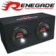 Renegade RXV-1002 2x 25cm Woofer 1000 Watt Subwoofer Doppelwoofer Auto Basskiste