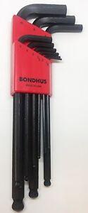 Bondhus 9pc Metric Ball End Hex Allen Key Set 1.5-10MM BLX9M 10999