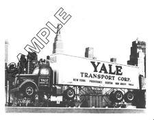 YALE TRANSPORT WHITE WC-22 NYC: WORLD'S LARGEST BILLBOARD 8x10 B&W Glossy Photo