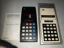 VINTAGE RETRO COMMODORE ELECTRONIC CALCULATOR IN ORIGINAL BOX MODEL 796M