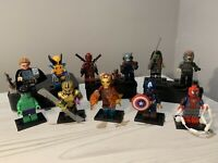 Marvel SUPERHEROS X11 Custom Brick Lego Compatible Minifigures! UK Ship Avengers