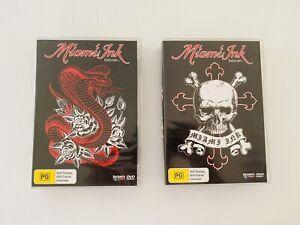 Miami Ink DVD Bundle Season 1 and 2 Box Set 6 Disc Kat Von D Tattoo Reality TV