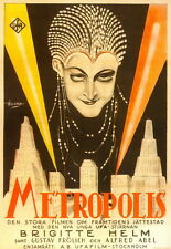 "DY00516 Metropolis - 1927 Fritz Lang Vintage Style Movie 14""x20"" Poster"