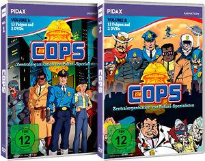 Gesamtedition - C.O.P.S. (COPS) Vol. 1 + Vol. 2 / 26 Folgen auf 4 DVDs Pidax Neu