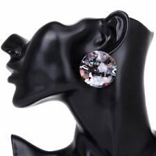 Acetic Acid Leopard Acrylic Geometric Round Big Circle Drop Earrings For Women