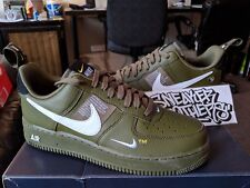 sneakers for cheap 56b9d 69aab Nike Air Force One 1 Utility  07 LV8 Green Olive Canvas White Black AJ7747-