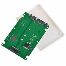 White B Key Socket 2 M.2 NGFF (SATA) SSD to 2.5 SATA Adapter Card with Case