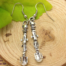 Antique silver Doctor Who Sonic Screwdriver Earrings HANDMADE
