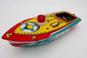 Vintage Modern Toys Japan Tin Litho Pop Pop Fire Boat Nomura Yonezawa