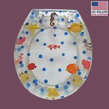 Polyresin Toilet Seat Sea Horse Ajustable Elongated Hinge  | Renovator's Supply