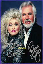 4x6 SIGNED AUTOGRAPH PHOTO REPRINT of Dolly Parton & Kenny Rogers