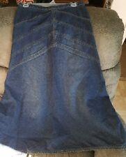 Vintage ZENA JEANS Women 4 Long Modest Denim Cotton Skirt A-Line Flared C-7237
