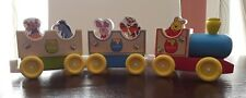 Wooden Winnie the Pooh Toy Train Melissa And Doug EUC 8 Pieces