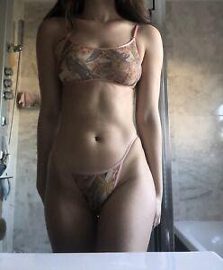 Victoria's Secret Orange Bikini Size Small