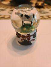 Westland Miniature Glitter Snow Globe Cow On Grass Glitter Snow Globe No. 1224