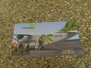 Interisland Hawaii Shorts 360 boarding at airport big airline issued postcard