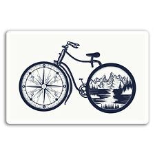 2 x 10cm Bicycle Vinyl Stickers - Mountains Compass Bike Sticker Laptop #17499